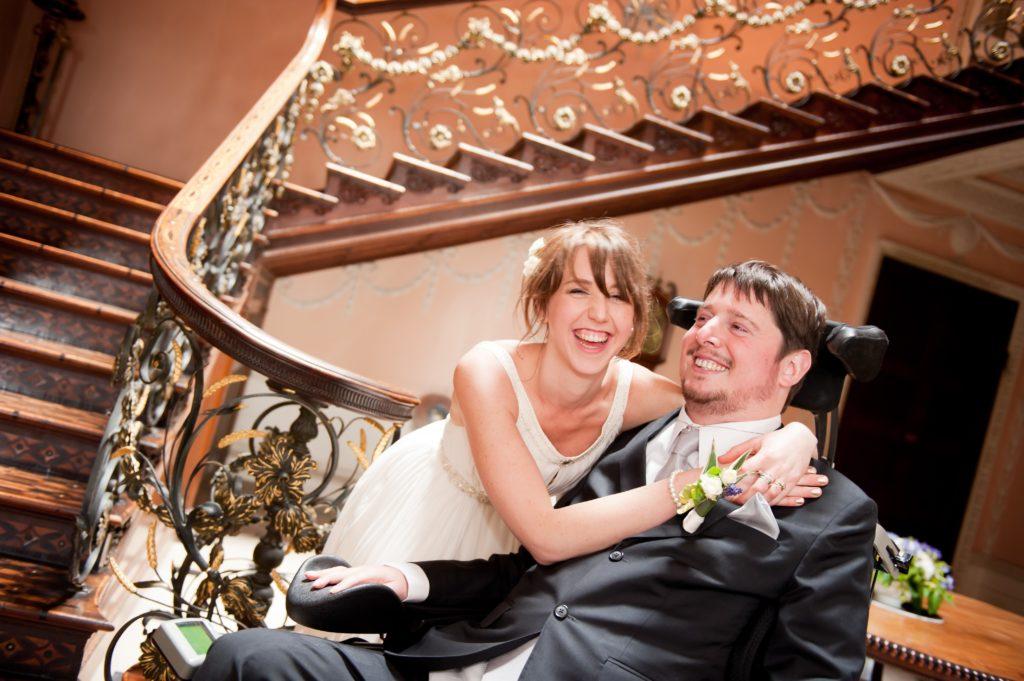 Tom and Ellen at their wedding
