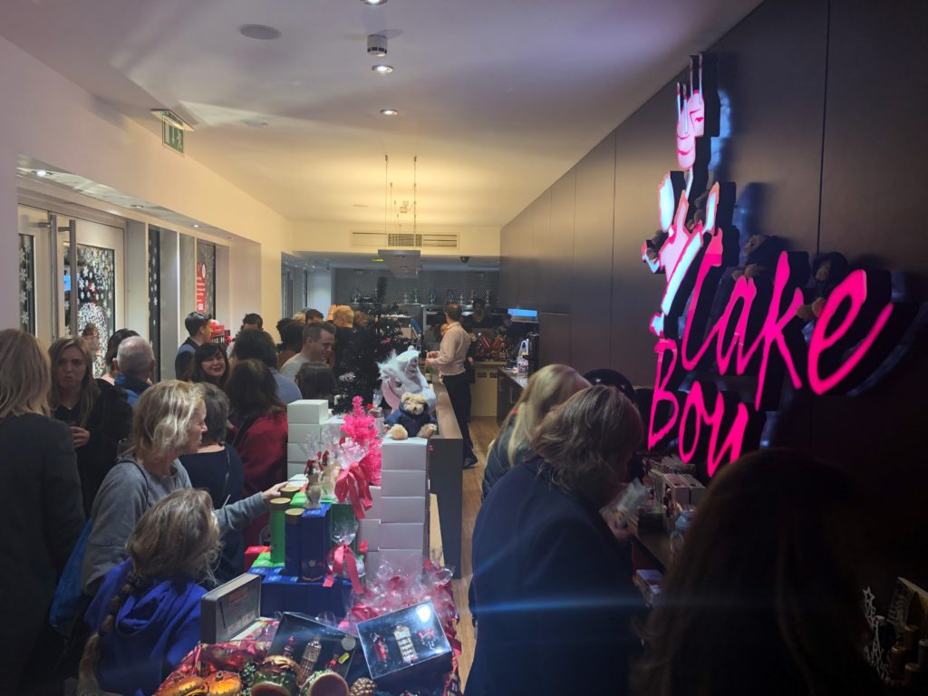 Inside Cake Boy where it is very busy