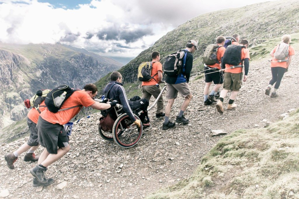 Snowdon Push team climbing