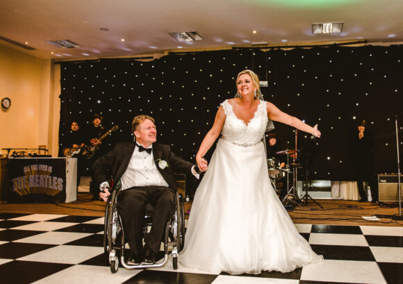 David and Nicky - one of our family volunteers- at their wedding