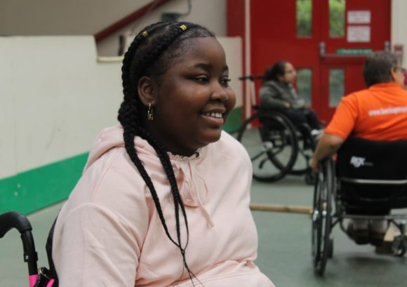 Young person with a spinal cord injury on one of our multi-activity courses
