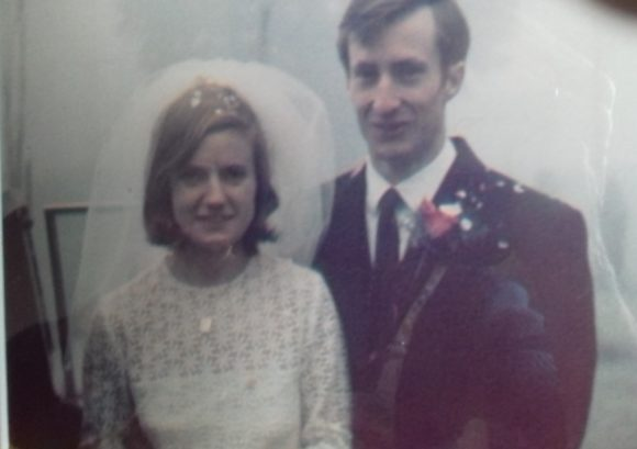 Alan and Sandra on their wedding day in 1969