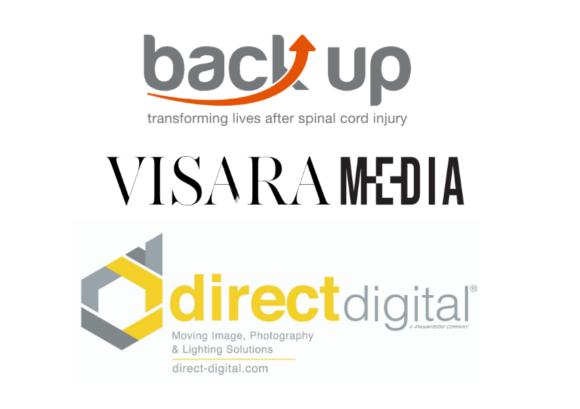 the logos of Back Up, Visara Media, and Direct Digital
