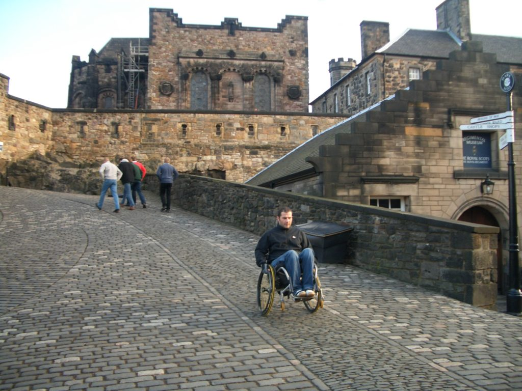 Participant on a City Skills course in Edinburgh