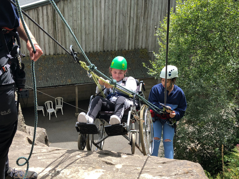 Bethany abseiling on one of our multi activity courses