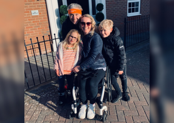 One of our spinal circuit participants with her family