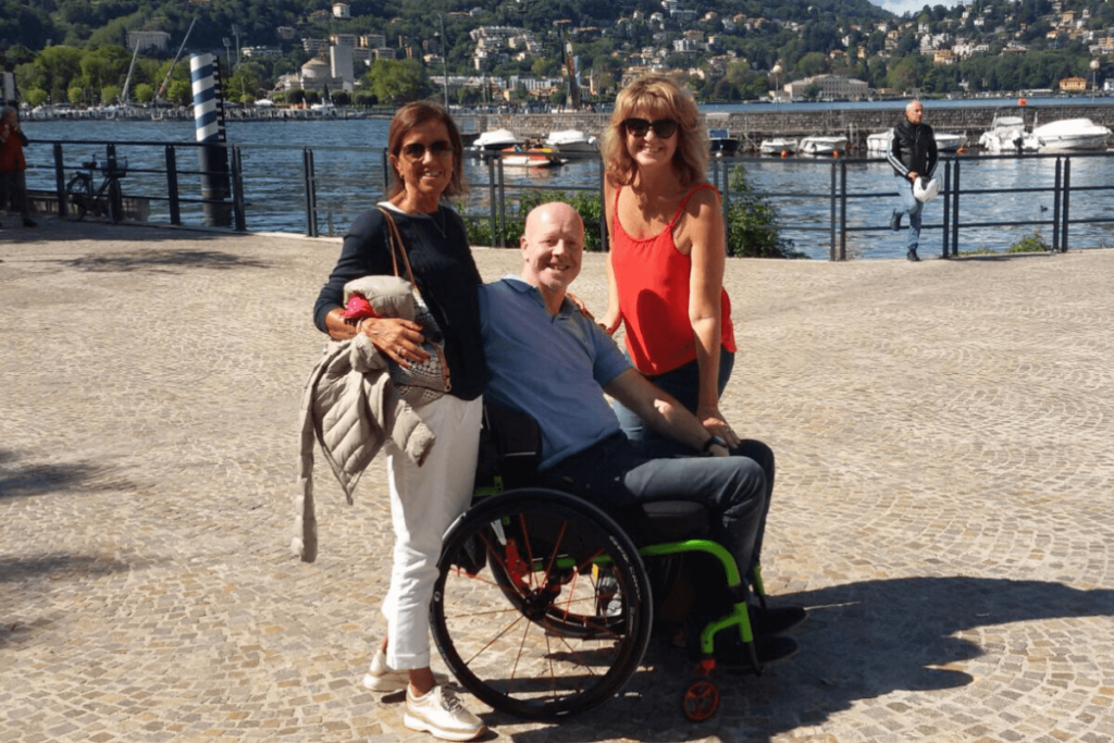 Sue and John on holiday after spinal cord injury