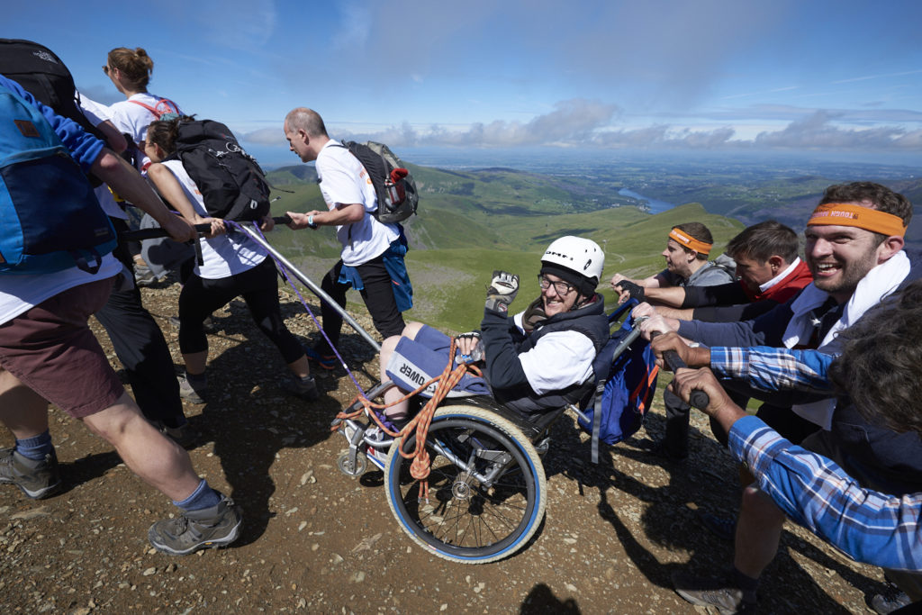 Luke and his team during the Snowdon Push 2017