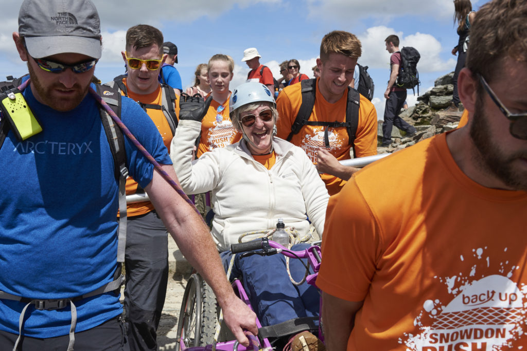 One of our teams taking on The Snowdon Push