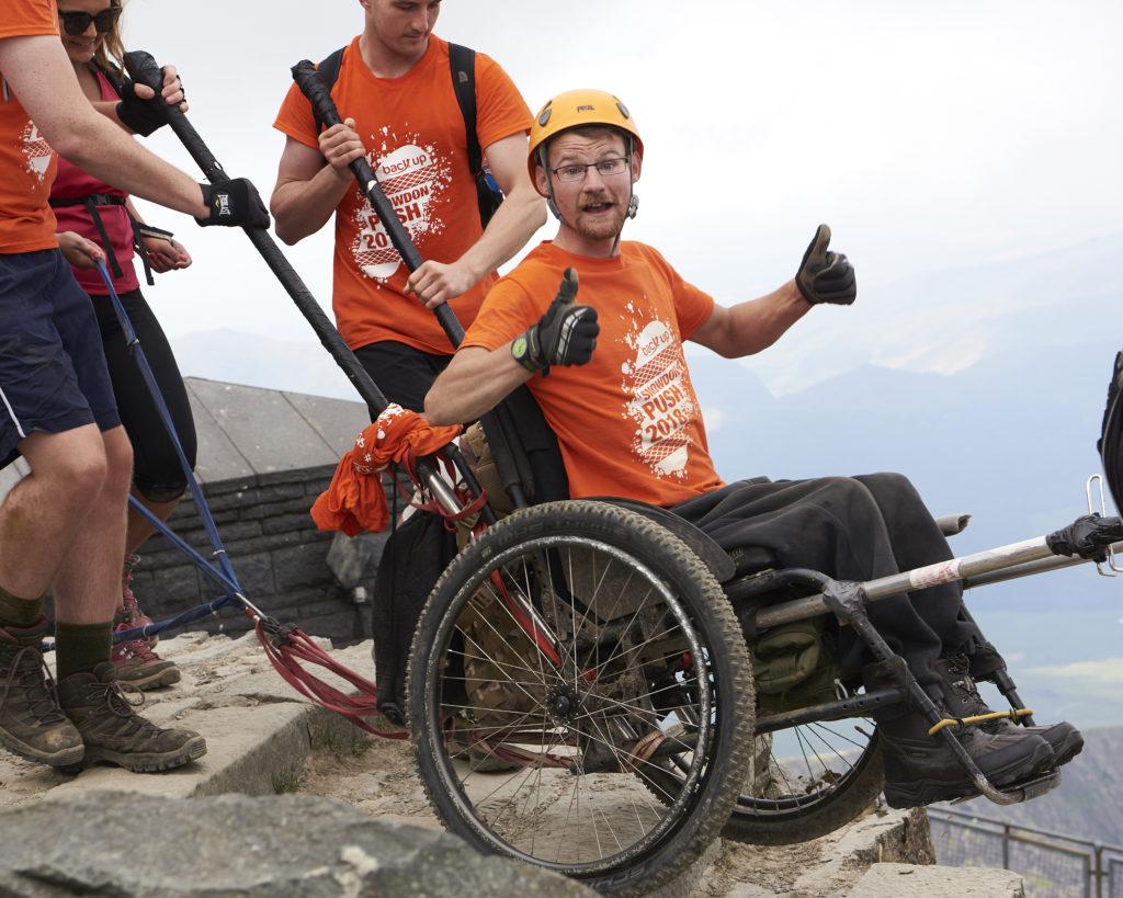 Dan ascending Mount Snowdon