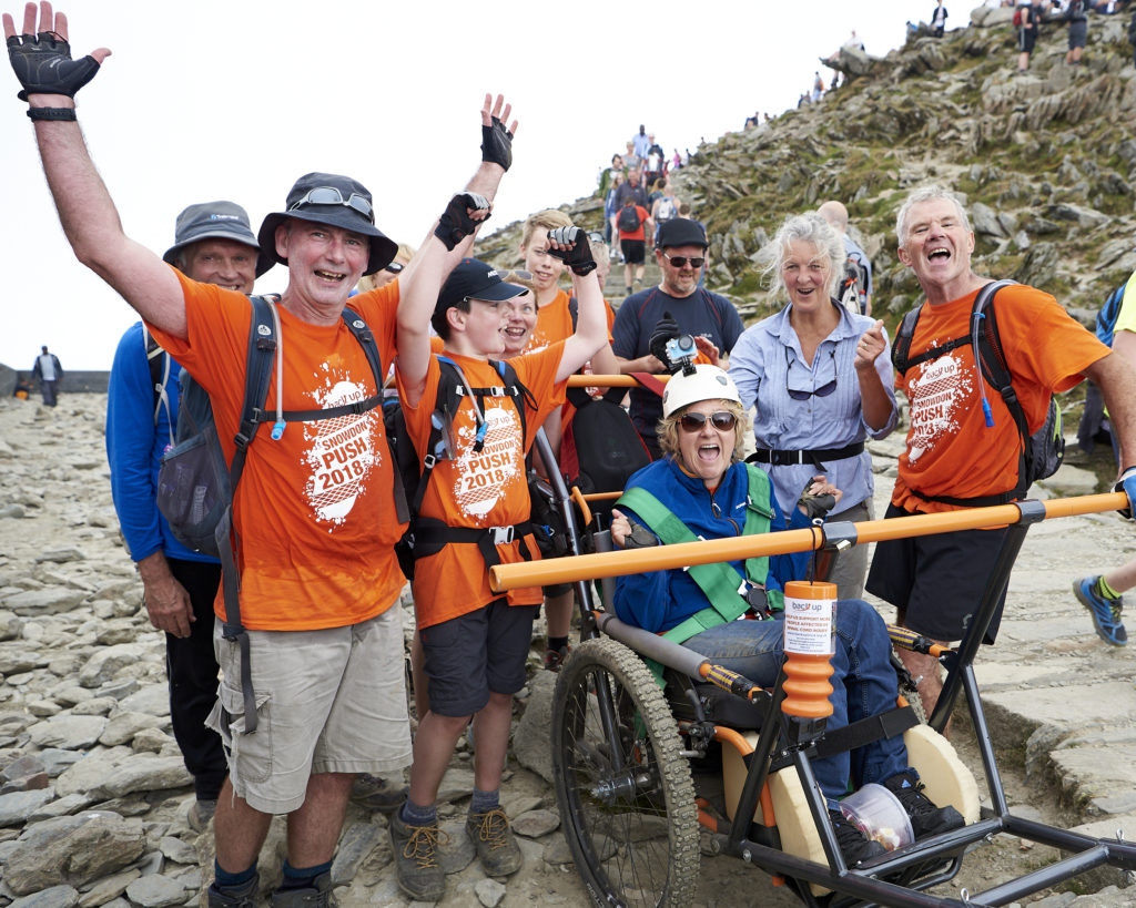 Becky Hill and her friends and family taking on The Snowdon Push