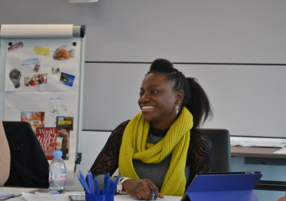 Mariam on our Back Up to Work course in Manchester