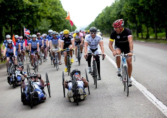 Group of cyclists take on the London to Paris Ride