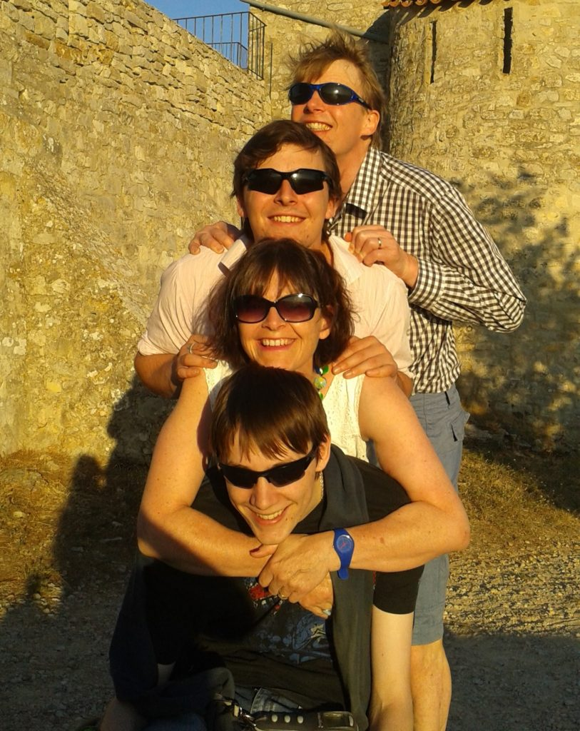 The Dickinson family on holiday in France