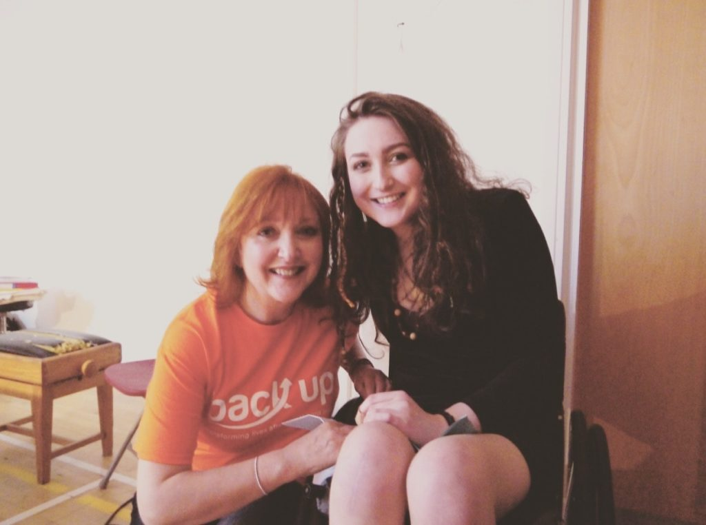 Rachel and her mother Angela at fundraising concert Chords for Cords