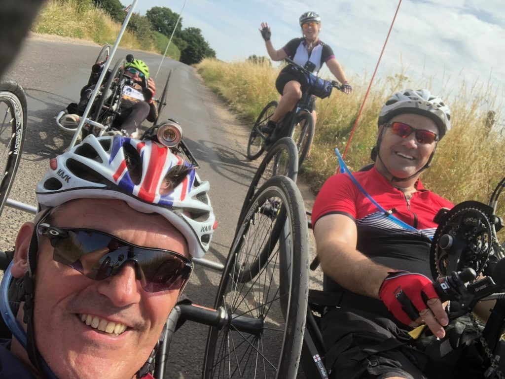 Luke and friends training for the London to Paris ride