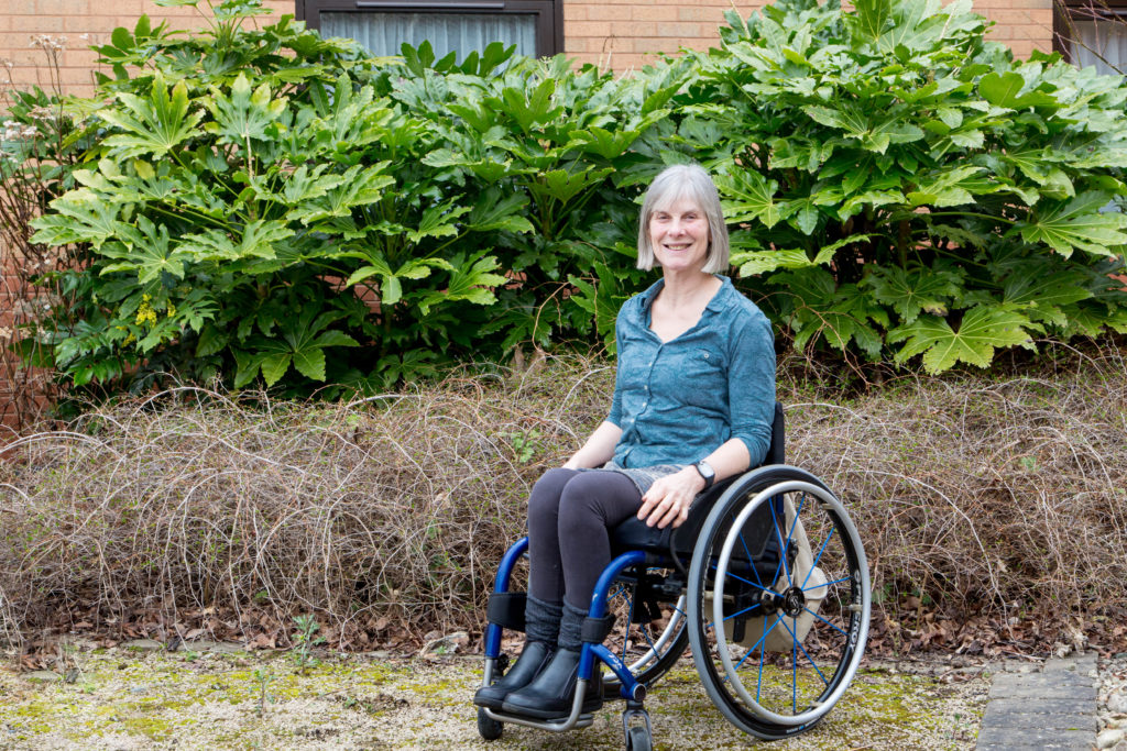 Wheelchair user outside