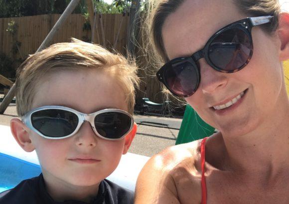 Kate and Jasper wearing sunglasses