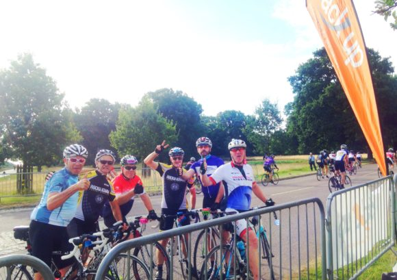 Group of cyclists at the Ride London event