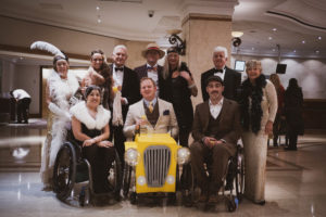 Our guests posing for a photo at our Great Gatsby Back Up Ball
