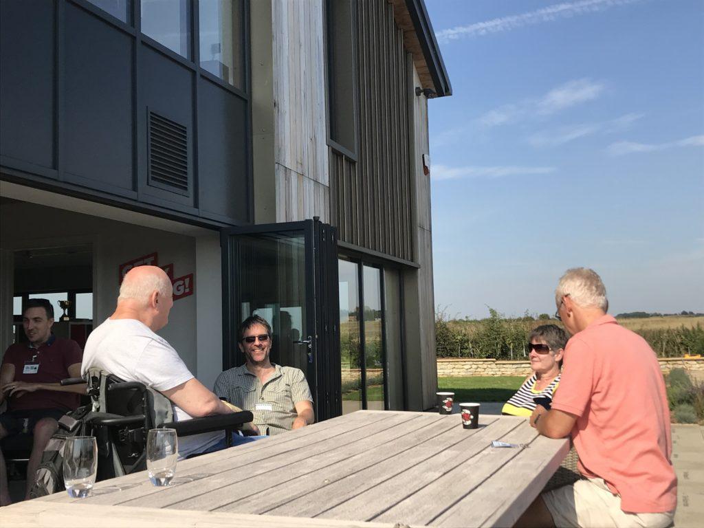 Three of our volunteers enjoying the sunshine