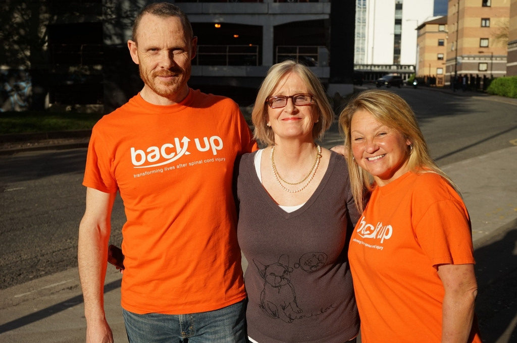 Michelle this month's Back Up star, volunteering on our Next Steps course