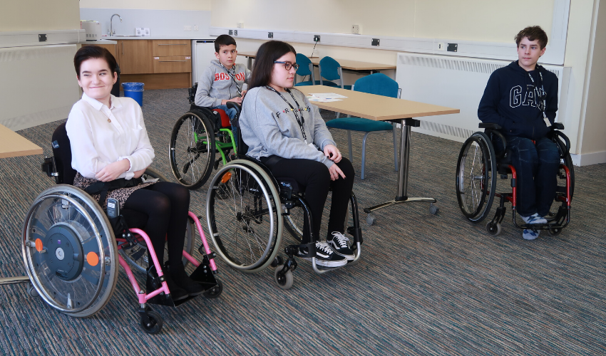 Daisy, a young person with an incomplete spinal cord injury, taking part in our Youth Advisory Group