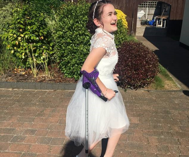 Daisy, a young person with an incomplete spinal cord injury, getting ready for her Year 11 prom