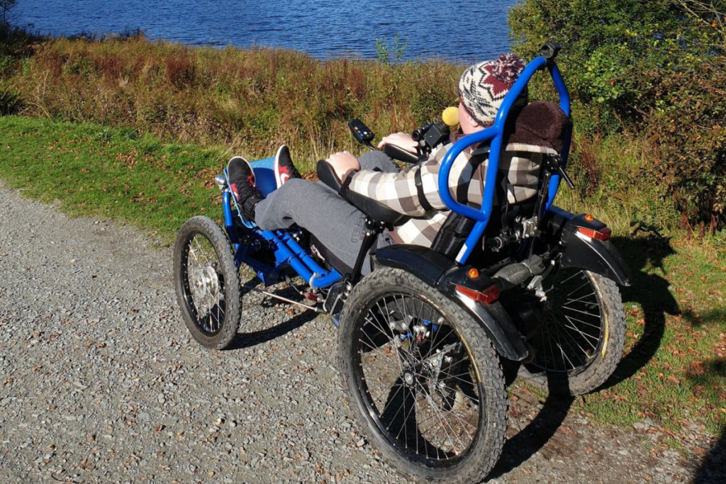 Will, one of our power chair skill trainers enjoying the great outdoors