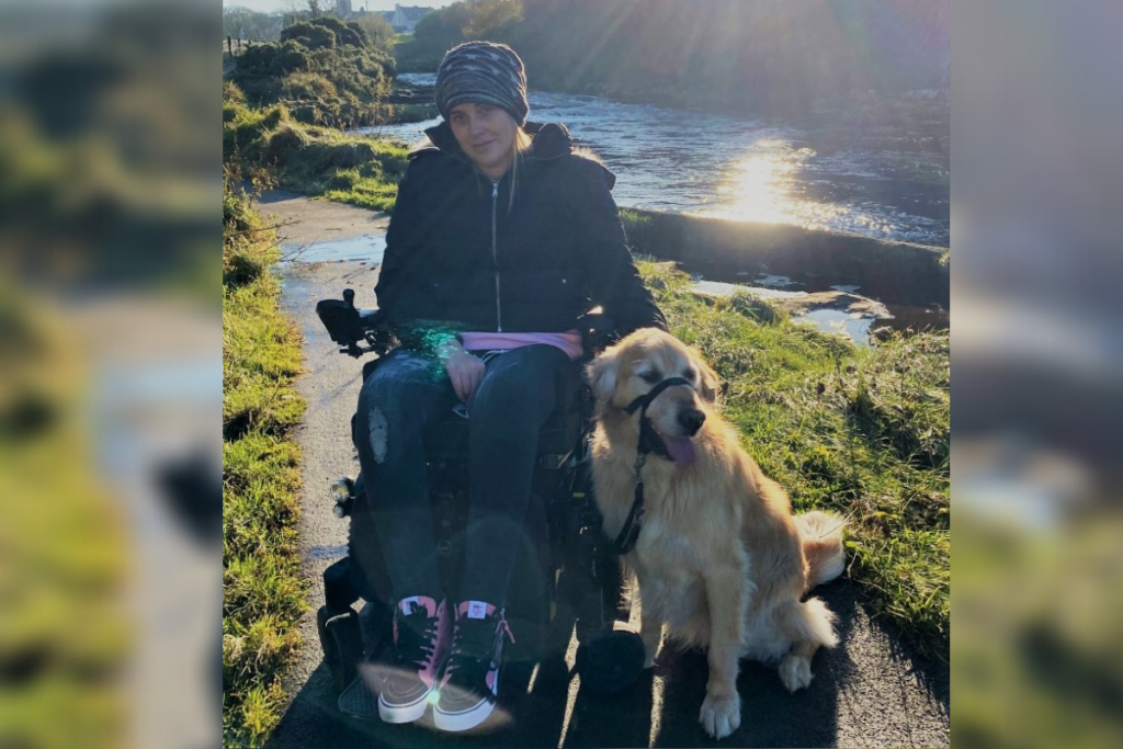 Jenna, who uses a Sirus Automotive WAV to live independently