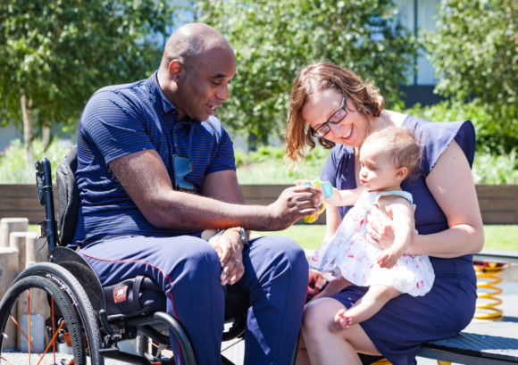 A family where one of the parents has a spinal cord injury. Read on for a guide to spring cleaning your finances from Aspire's Money Matters service