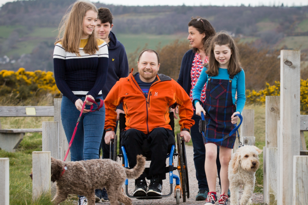 A family where the father is a wheelchair user - the Bck Up strategy is here to transform lives affected by spinal cord injury