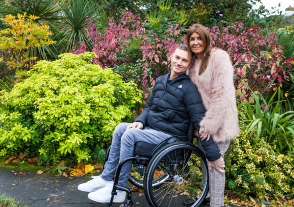 A couple who we helped with their wellbeing after spinal cord injury