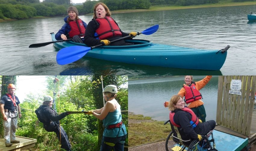 Collage photo of Jo Wright on our multi-activity course