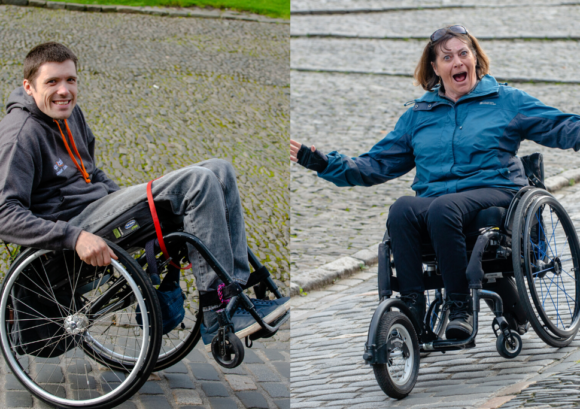 Richard and Julie - two of our fantastic wheelchair skills trainers on our Edinburgh City Skills course
