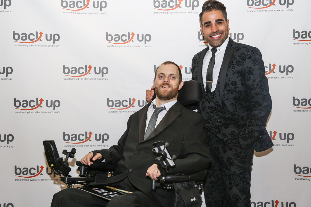 Dom at the 2019 Back Up City Dinner, where he was the guest speaker