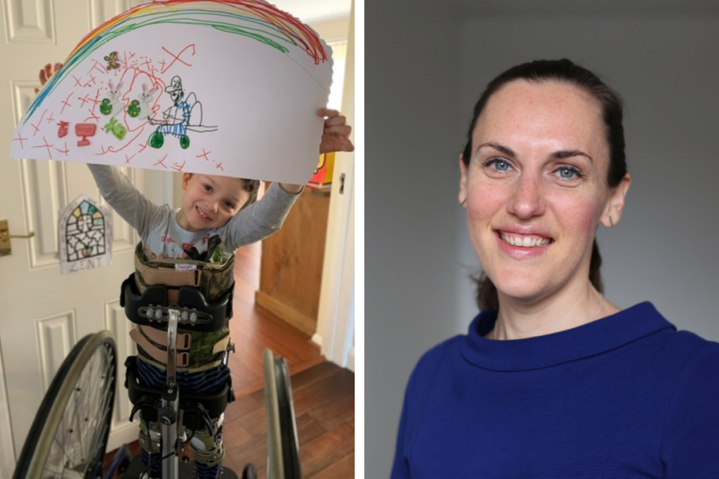 A picture of Emerson, a young wheelchair user, next to a picture of our CEO abigail lock. BBC Children in Need did a short film and animation about emerson's journey