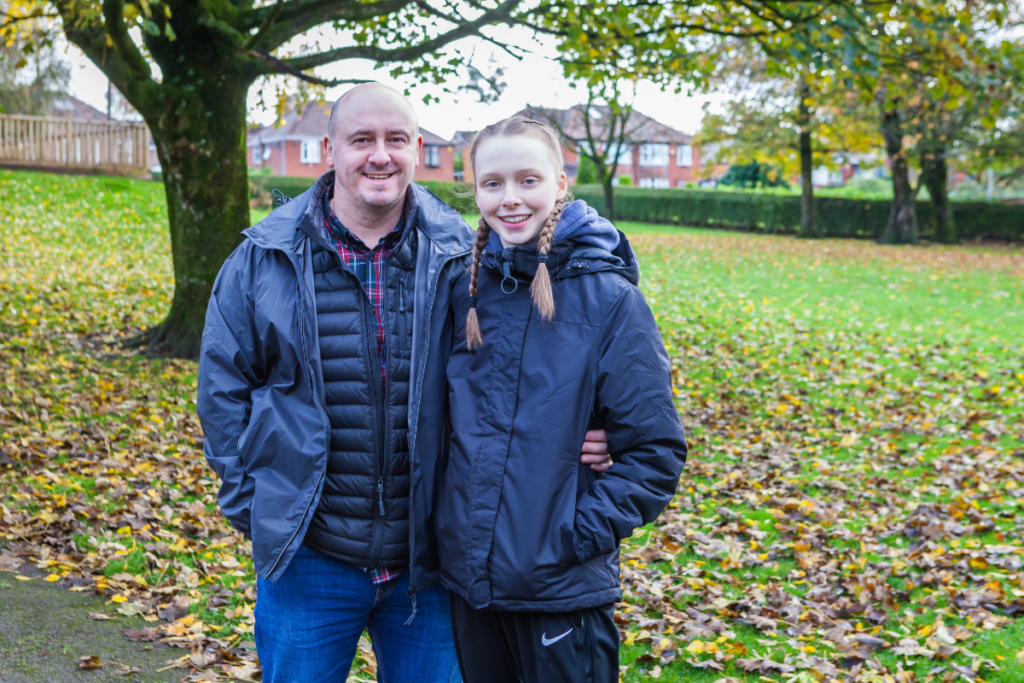 For our 2020 impact report we spoke to Hannah, a young person with a spinal cord injury who we supported standing by her father