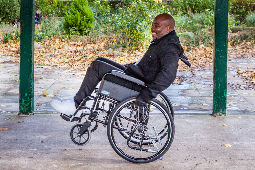 remmond, who we interviewed for our impact report, doing a back wheel balance