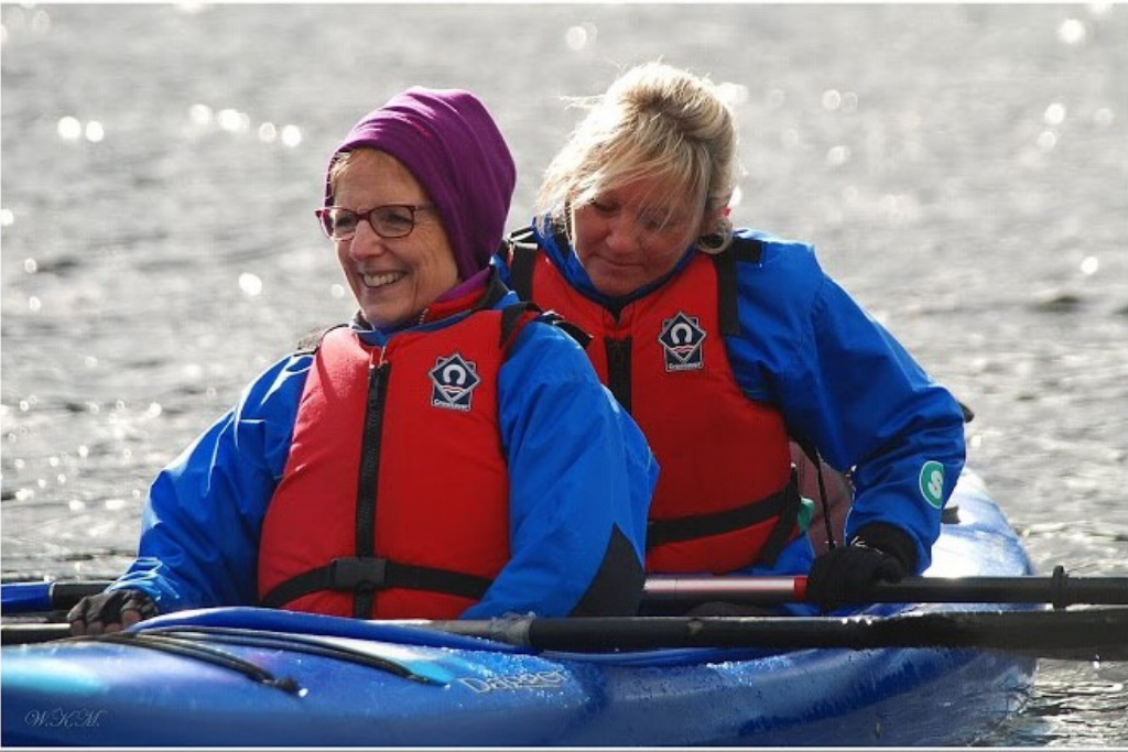 Sue, enjoying some canoeing on our multi activity course