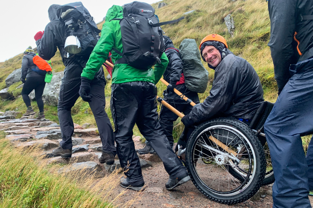 One of our ben Nevis Push fundraising challenge participants