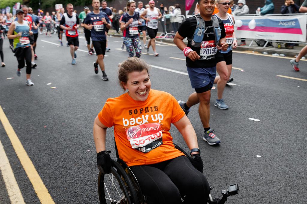 Sophie, one of our London Marathon fundraising challenge participants