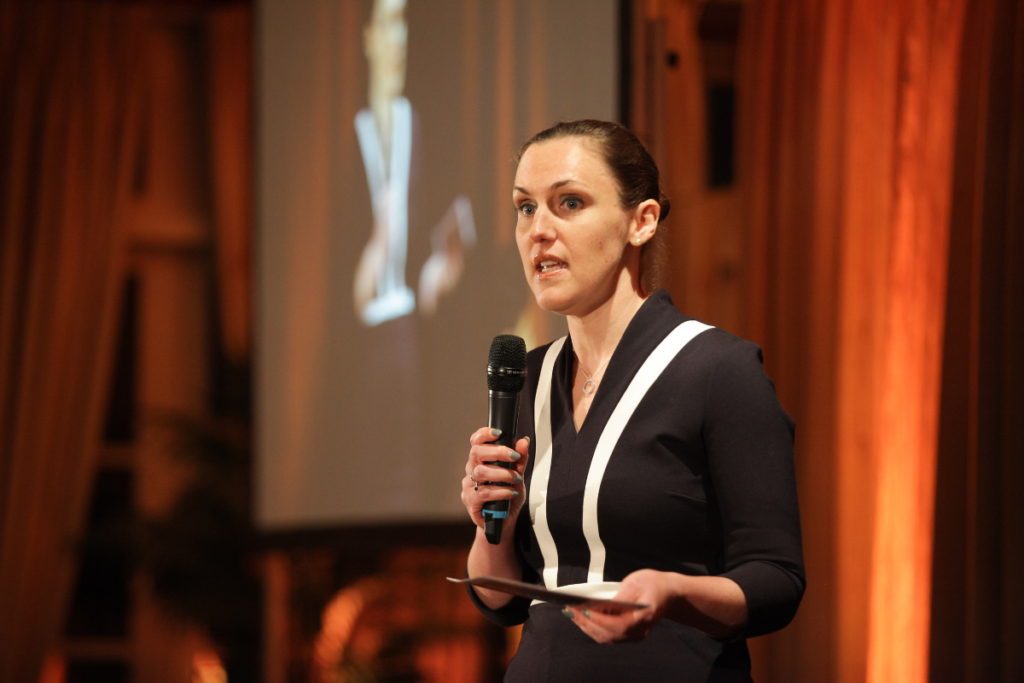 Our year in review - our CEO Abigail Lock at our Front Row fashion show
