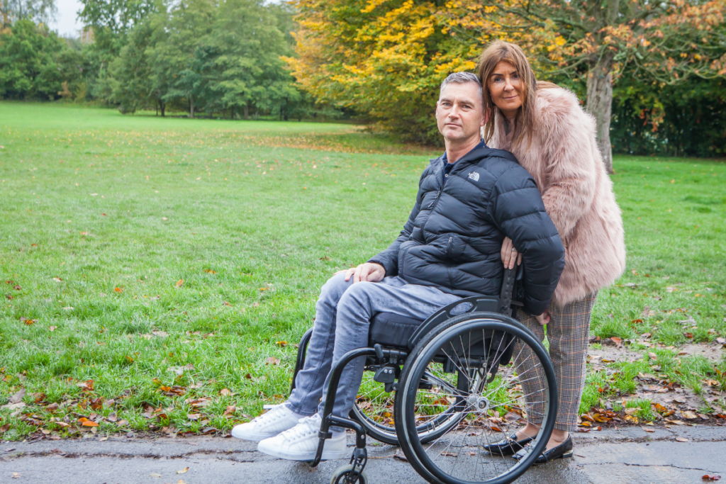 "a wheelchair user and his partner - we're here to help everyone affected by spinal cord injury with our ""what next?"" course."