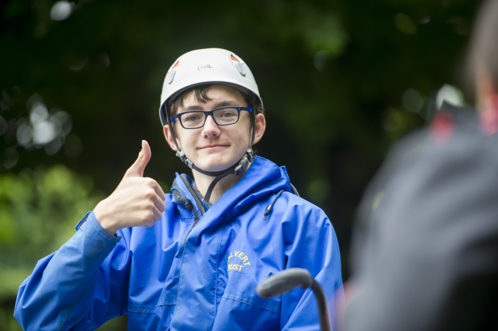 Photo of a course volunteer