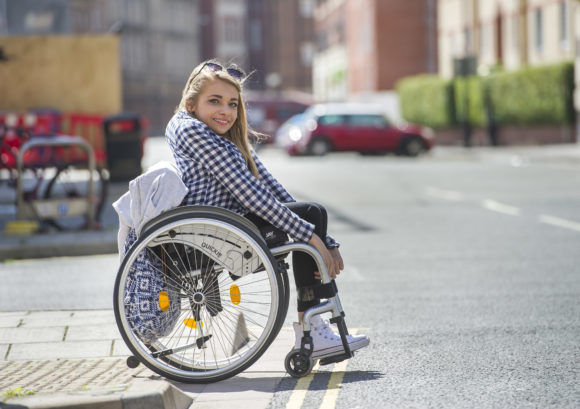 Young wheelchair user in Bristol