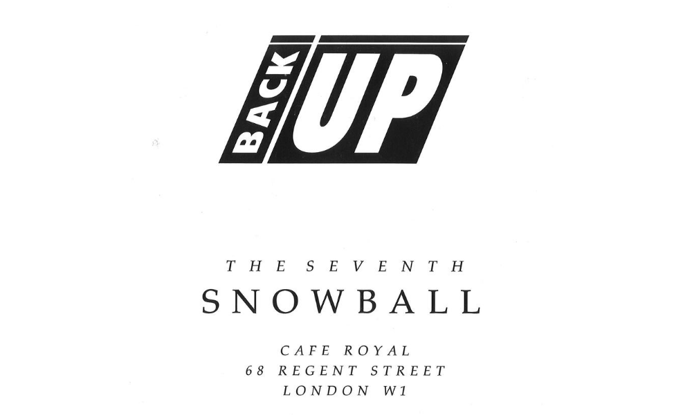 the 1992 Back Up Ball programme