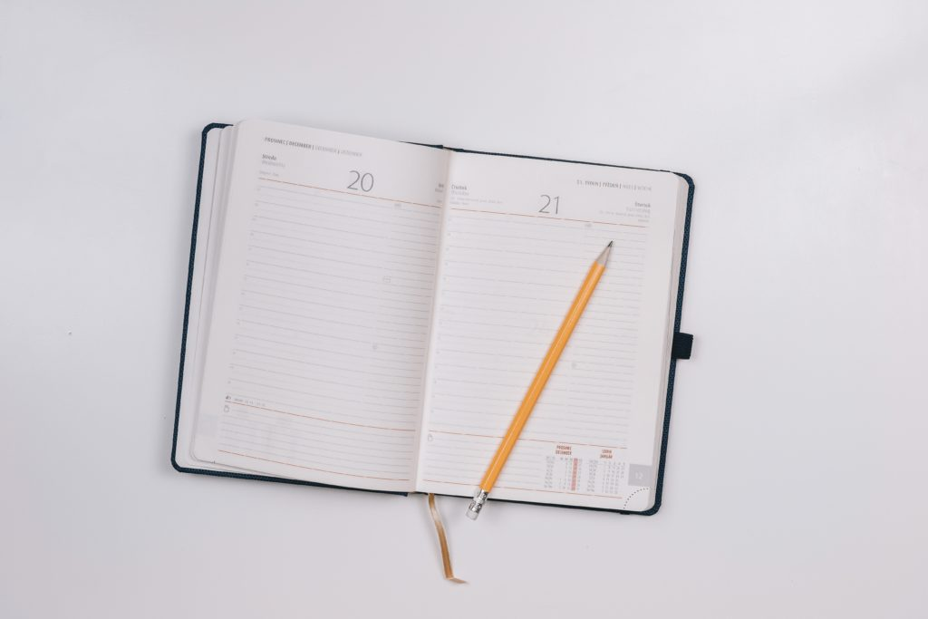 An image of a pain management diary