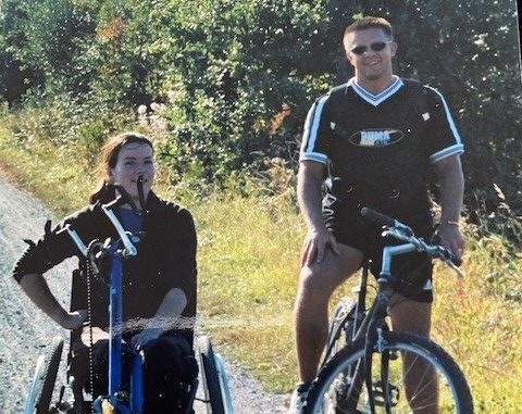 Sarah, hand cycling and rebuilding her independence