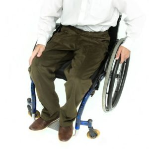 Khaki corduroy wheelchair trousers
